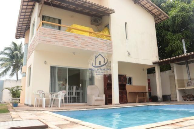 Casa Moderna, Duplex com Piscina; 3/4 (1 Suíte), Garagem em Itapuã-HC074