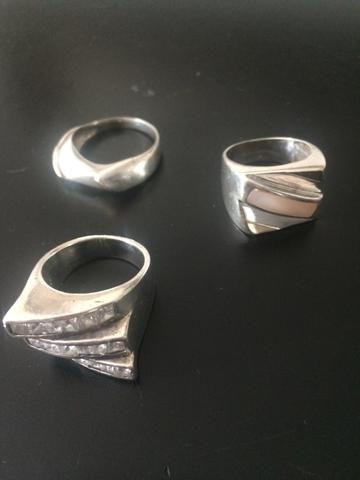 Anéis de prata aro 18/19 - Foto 2
