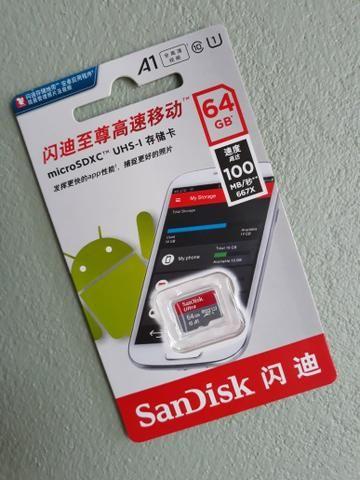 Cartão de Memória Sandisk 64GB - Foto 3