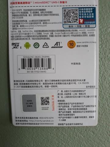 Cartão de Memória Sandisk 64GB - Foto 2