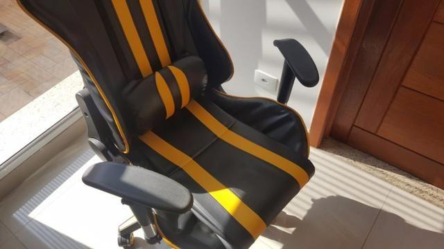 Cadeira de Escritório - Presidente Reclinável (Gamer) - Foto 5