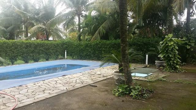 Sítio 9.000 m² com 2 casas - piscina - área social - todo murado - Itaguaí - Foto 2