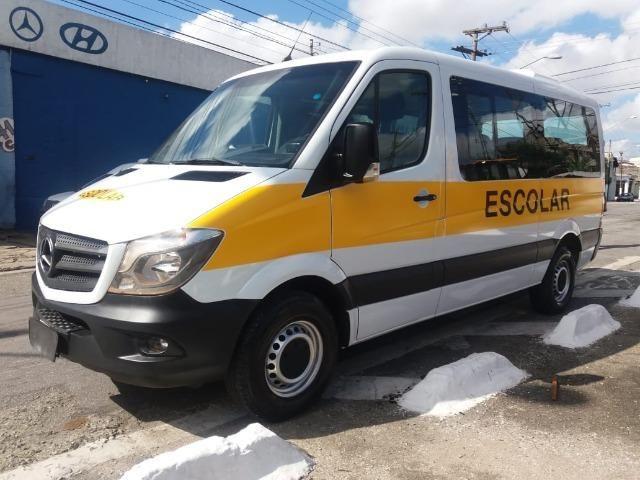 Mercedes-benz Sprinter Van 2.2 Cdi 415 Branca 2019 Escolar - Foto 2