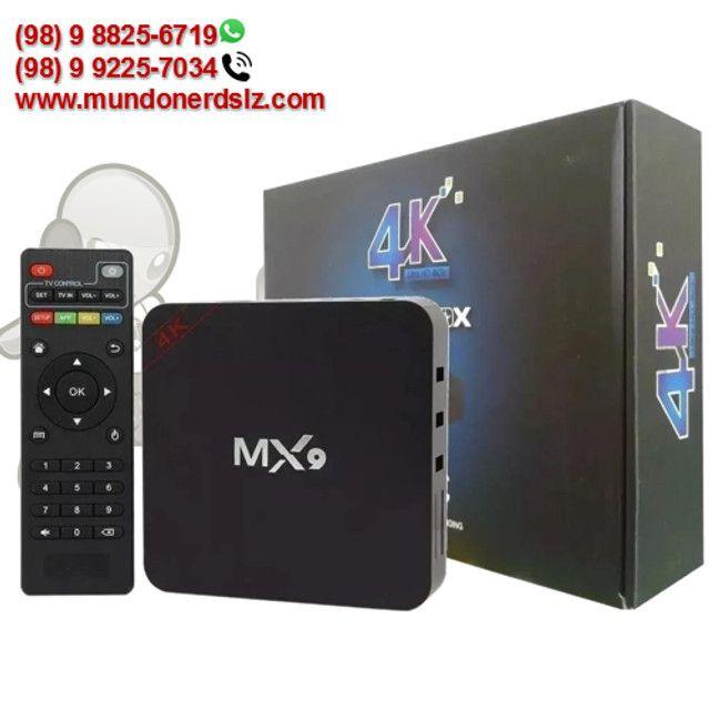 TV Box MX9 4K Ultra HD 4GB Ram + 32GB 5G Wi-Fi Android 10.1 em São Luís Ma - Foto 3