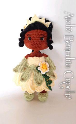 Amigurumi boneca princesa Tiana - Foto 3