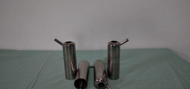 Kit's Capas inox da teteira usada na ordenha