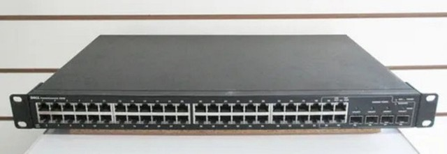 Switch Dell Powerconnect 2848 48p Giga + 4p Sfp Fibra