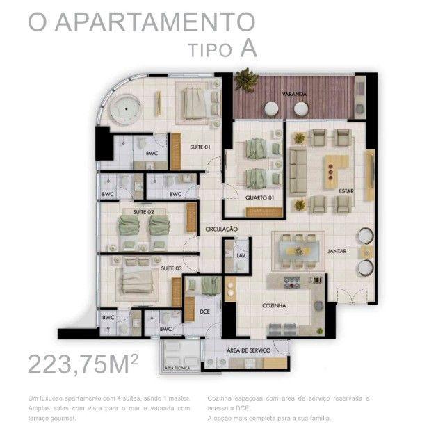 Excelente Apartamento - Tour Geneve - Altiplano - 223,75 m² - Foto 4