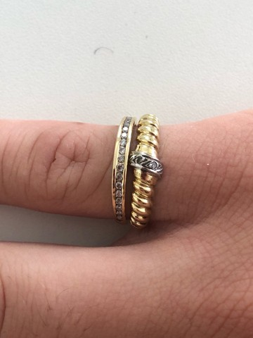Conjunto de anéis de ouro 18K - Foto 3