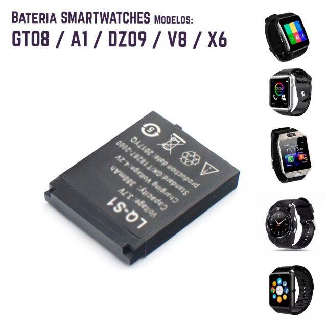 Bateria recarregável relogio smartwatch DZ09, QW09, W8, A1, V8, X6, GT08