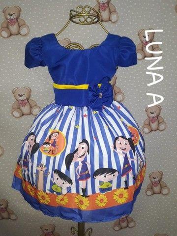 Vestido Infantil - Temático Show da Luna - Vestido para aniversario Festa Infantil - Foto 2