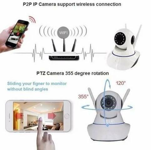 Câmera wifi visão noturna 3 antenas