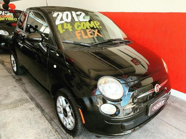 (Júnior Veículos) Fiat 500 1.4 Ano:2012 Completo - Foto 2