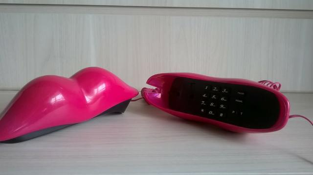 Telefone Beijo Labio Formato Boca clássico anos 80 - Foto 4