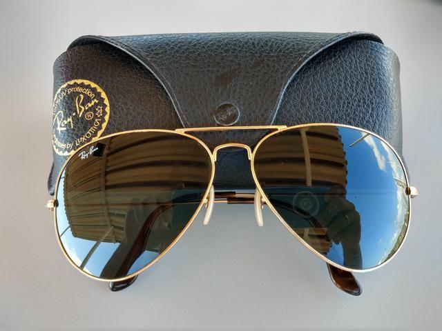 Óculos Ray Ban - Dourado ( Original ) - Bijouterias, relógios e ... aea2a0605f