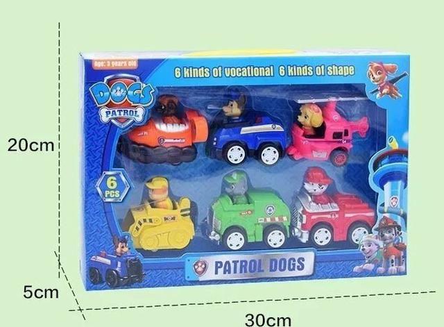 Patrulha Canina Kit com 6 patrulheiros