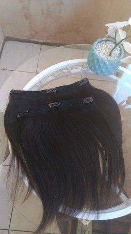 Aplique tic-tac cabelo humano  - Foto 2