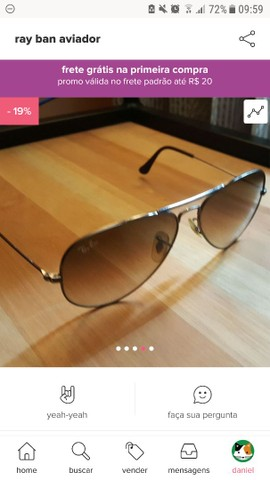 Óculos aviador ray ban  - Foto 4