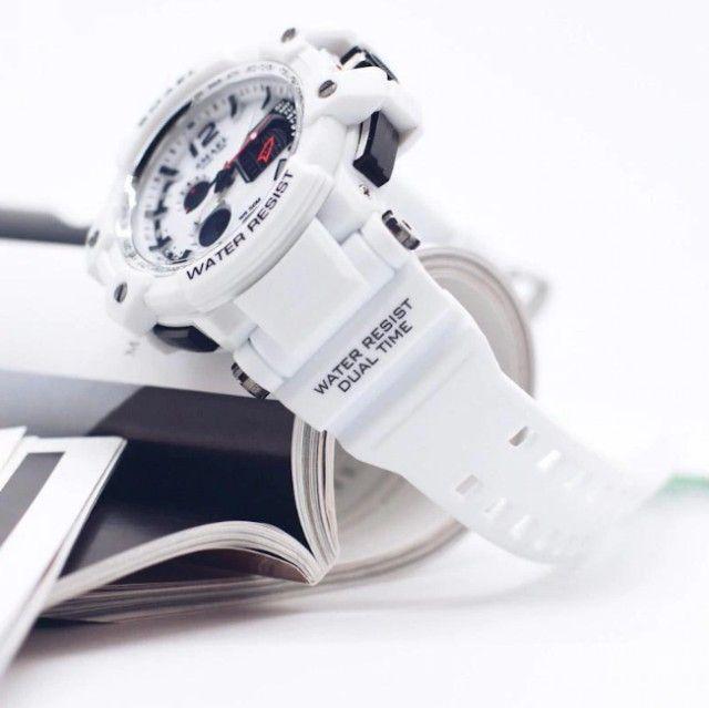 Relógio Militar Smael S Shock Branco 1509 a prova da água C/ Caixa - Foto 2