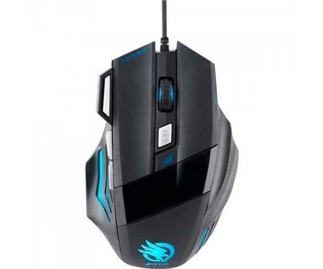 Mouse Gamer Fortrek Black Hawk OM-703 Preto/Azul - Foto 2