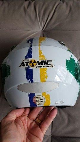 Capacete New Atomic Pro Tork Bandeira Do Brasil - Foto 5