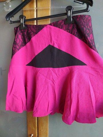 Saia Bo.Bô rosa pink Tam M com etiqueta - Foto 5