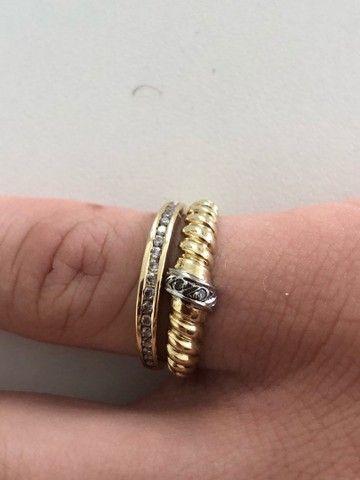 Conjunto de anéis de ouro 18K - Foto 2