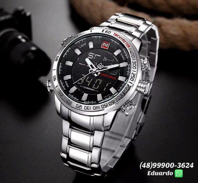Relógios originais NaviForce Aço Inoxidável - 3atm!! - Foto 4