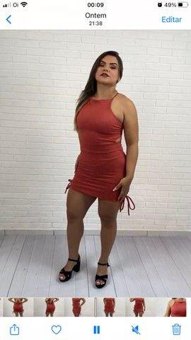 Vestido gringa malha canelada