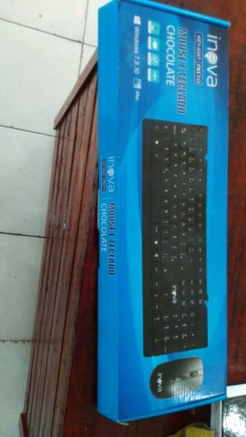 teclado e mouse de PC novo