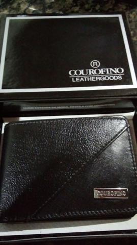 Carteira couro fino apartir de R$ 80,00 reais e porta documentos 15,00