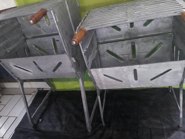 Churrasqueiras G fechada de aluminio batido