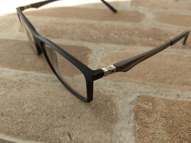 d3b666d14 Armação nova masculino grande grau óculos suporta qqer lente retirar Alto  Boqueirão - Foto 2
