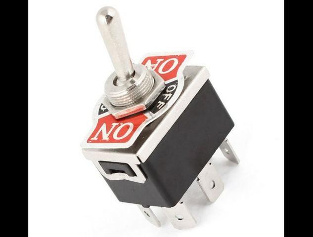 COD-CP252 Interruptor De Alavanca C0j8 Ac 250V/10A 125V/15A Dpdt 3 Posições On/Off/On - Foto 2