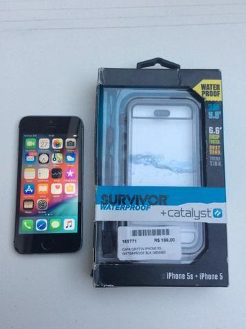 IPhone 5 s 16gb + capa a prova d?água e queda - Foto 3