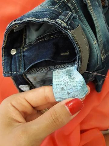 Calça de bebê, tamanho P. marca Meleko Teko