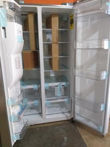 Vendo ou troco geladeira, máquina lavadoura e secadoura_ 62 999 810 656 - Foto 2