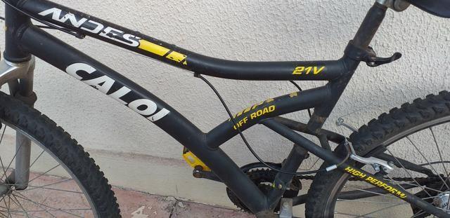 Bicicleta caloi aro 26 (PRA VENDER HOJE) - Foto 3