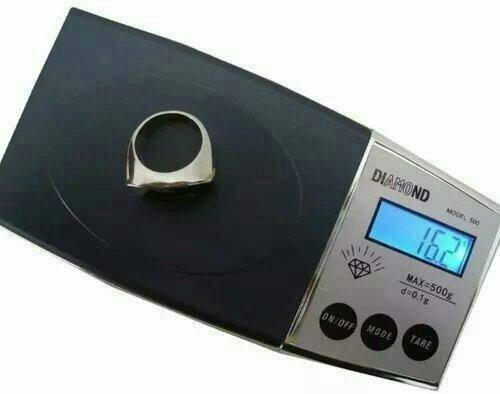 Mini balança digital de precisão décimo de grama 0,1g a 500g