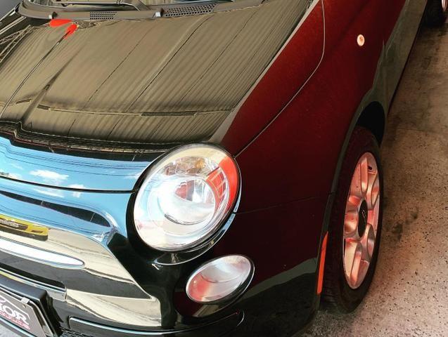 (Júnior Veículos) Fiat 500 1.4 Ano:2012 Completo - Foto 3