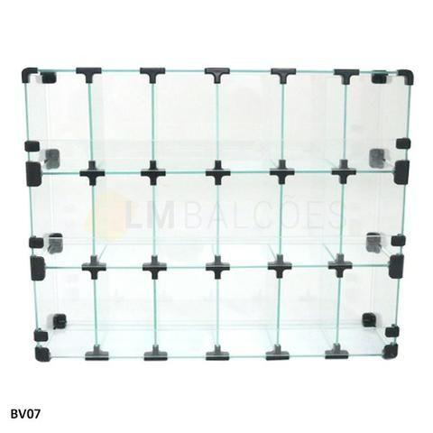 Baleiro de Vidro 0,60 x 0,45 x 0,15 Frete e montagem Gratis - Foto 2