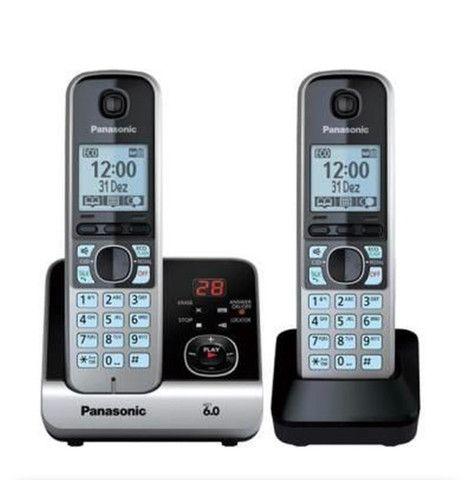 Vendo telefone sem fio Panasonic - (bem novinho) - Foto 5