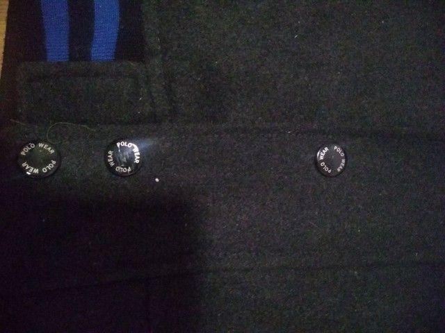 """Jaqueta Polo Wear ORIGINAL - material PU e lã tam. """"M""""  - Foto 5"""