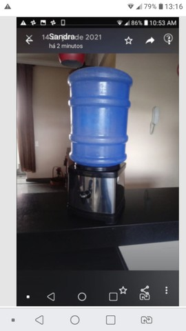 Base com ceramica interna p galão de agua