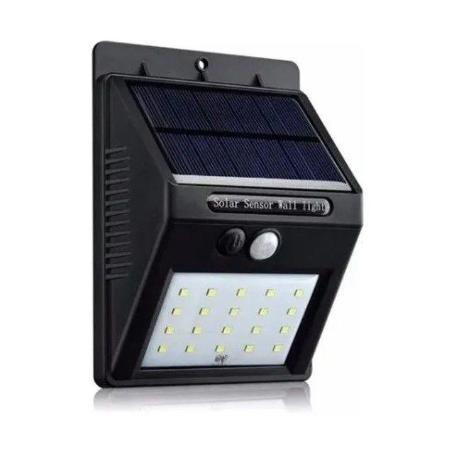 Luminária Solar 20 Leds Para Parede Com Sensor Presença 3920 Strong Light Luz Sollar - Foto 2