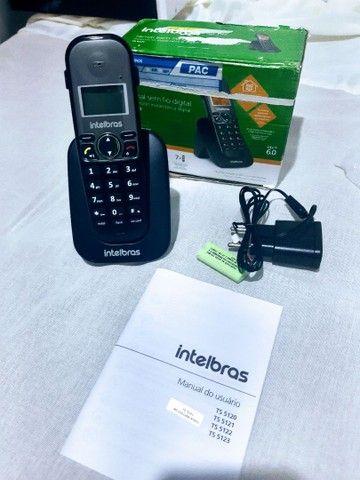 Telefone Intelbras sem Fio TS 5121 Ramal - Preto - Foto 3