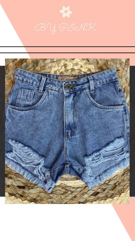 Short Jeans R$: 75,00 Loja Virtual  - Foto 3