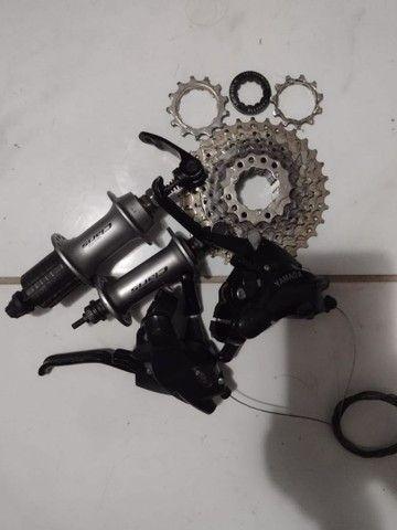 Peças de Bicicleta Semi novas - Foto 3