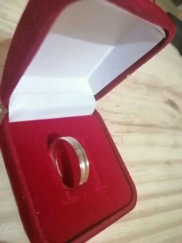 Aliança de namoro/noivado Ouro Rose e Prata  - Foto 3