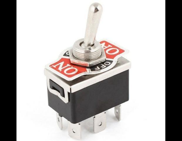 COD-CP252 Interruptor De Alavanca C0j8 Ac 250V/10A 125V/15A Dpdt 3 Posições On/Off/On